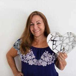 Carolyn Austin Head Shot With Fused Glass